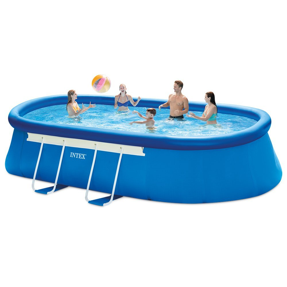 intex 18ft x 10ft x 42in oval frame pool set review. Black Bedroom Furniture Sets. Home Design Ideas